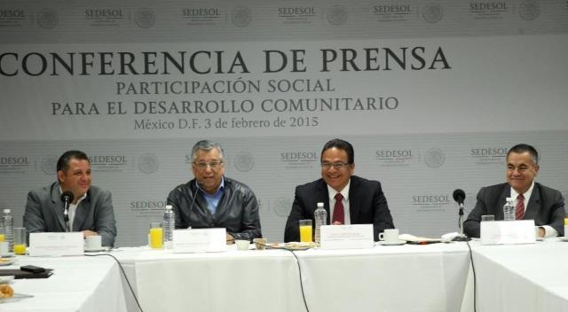 Javier Guerrero García, subsecretario de Desarrollo Comunitario y Participación Social de la Sedesol, anunció que se ha logrado la integración de 63 mil 782 Comités Comunitarios
