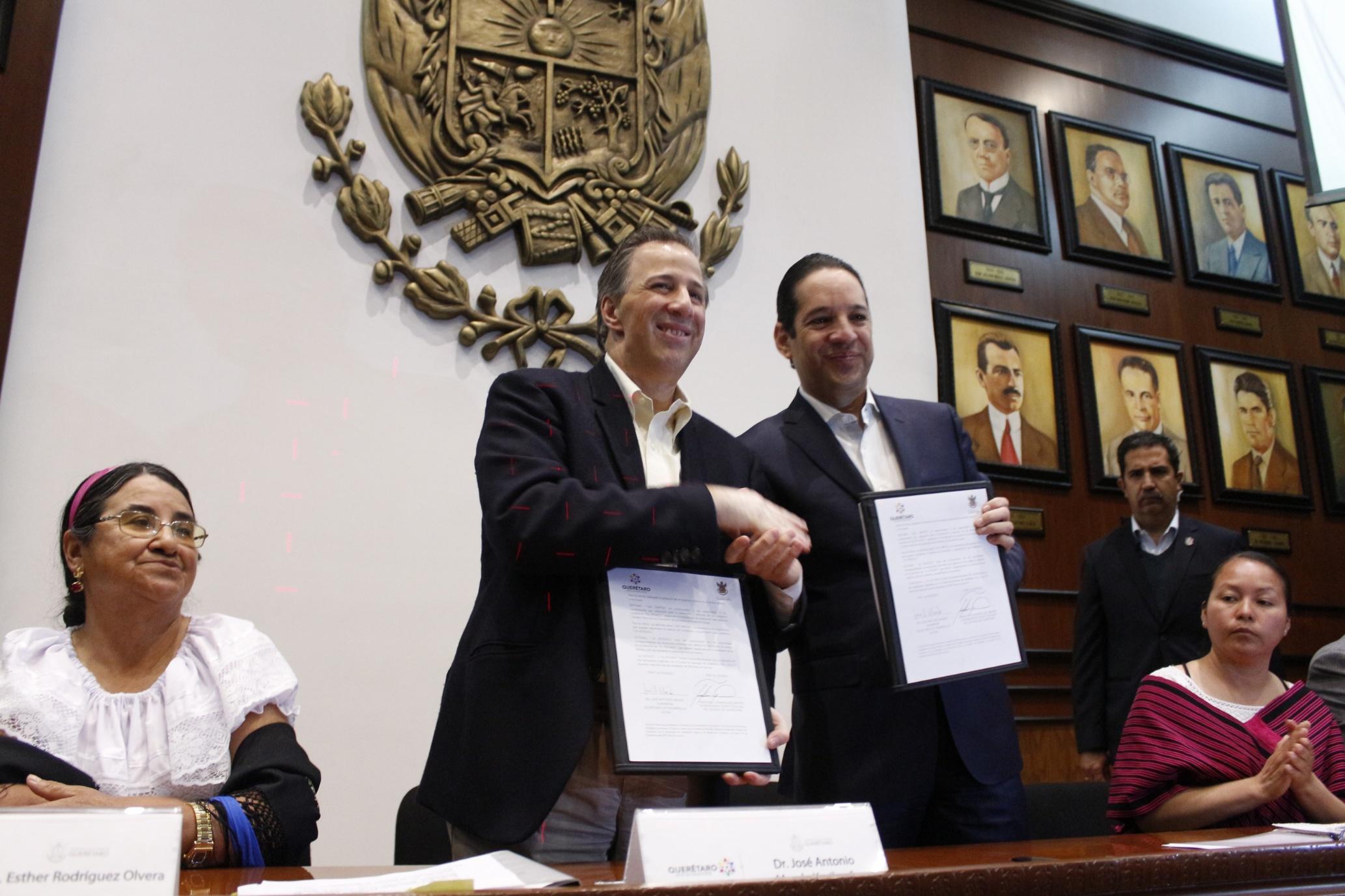 El secretario Meade durante la Firma del Acuerdo por un Querétaro Sin Pobreza