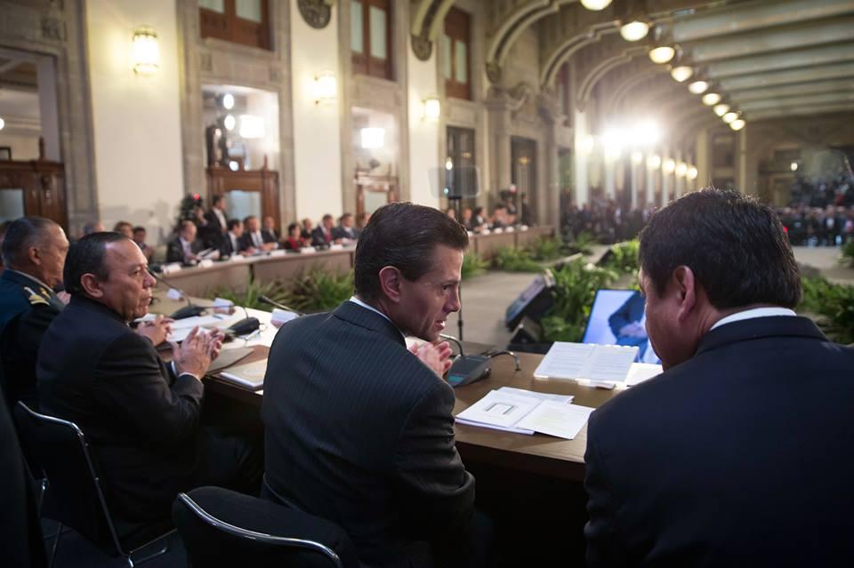 El Primer Mandatario clausuró la 39ª Sesión del Consejo Nacional de Seguridad Pública.