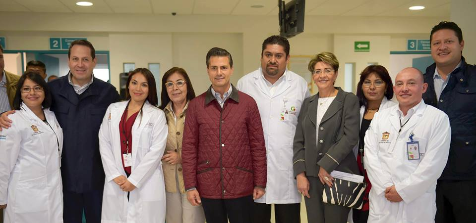 The president inaugurated Chiconcuac Community Hospital, and the State Center for Rehabilitation and Special Education in Toluca and the Center for the Visually Impaired in Naucalpan.