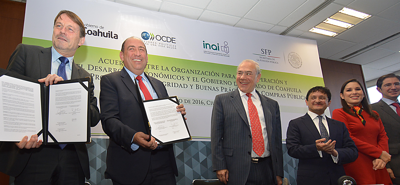 Firma de Acuerdo para Promover la Integridad y Buenas Prácticas en Compras Públicas