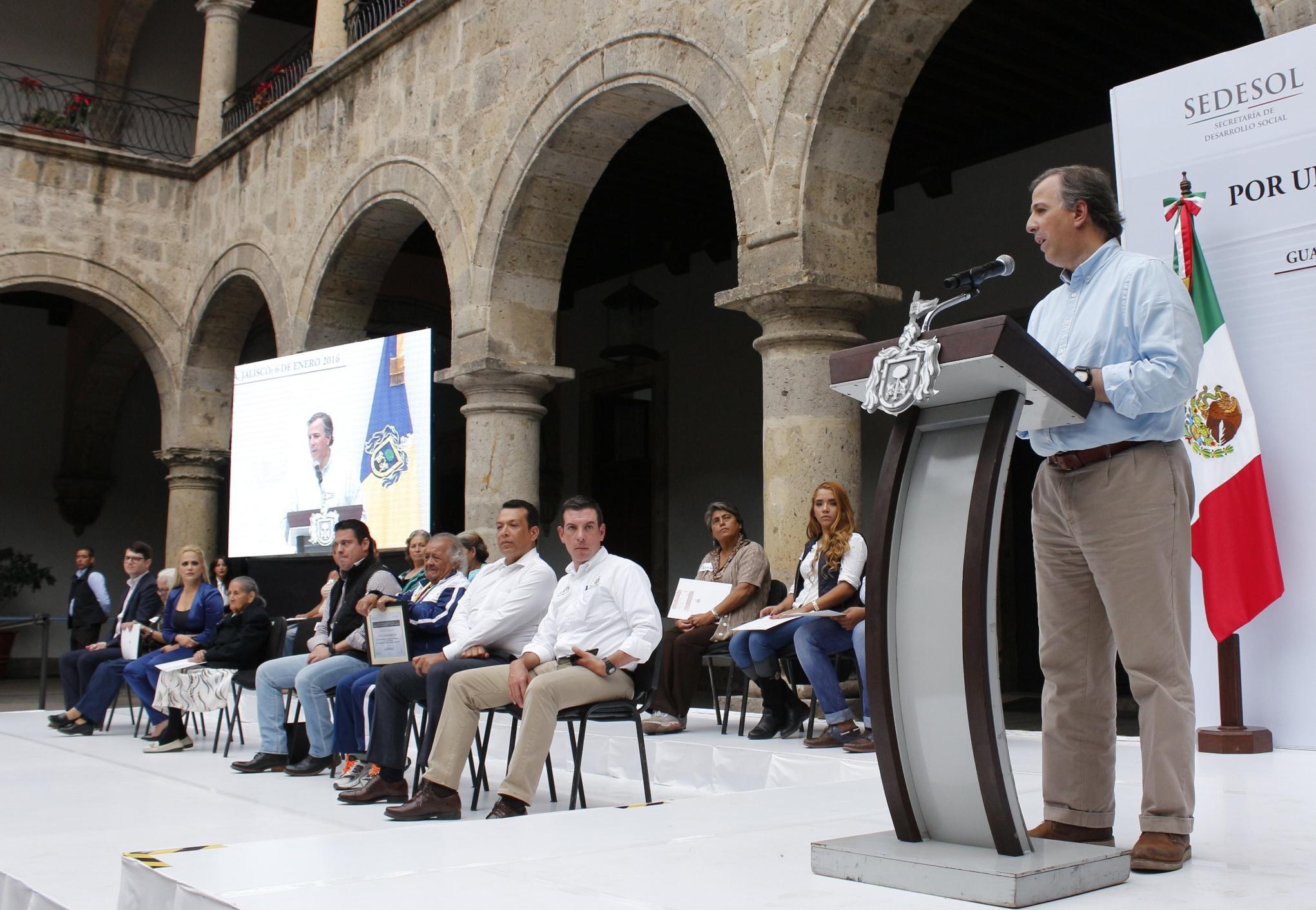 Mensaje del secretario de Desarrollo Social, José Antonio Meade Kuribreña, en el marco de su gira de trabajo en el estado de Jalisco