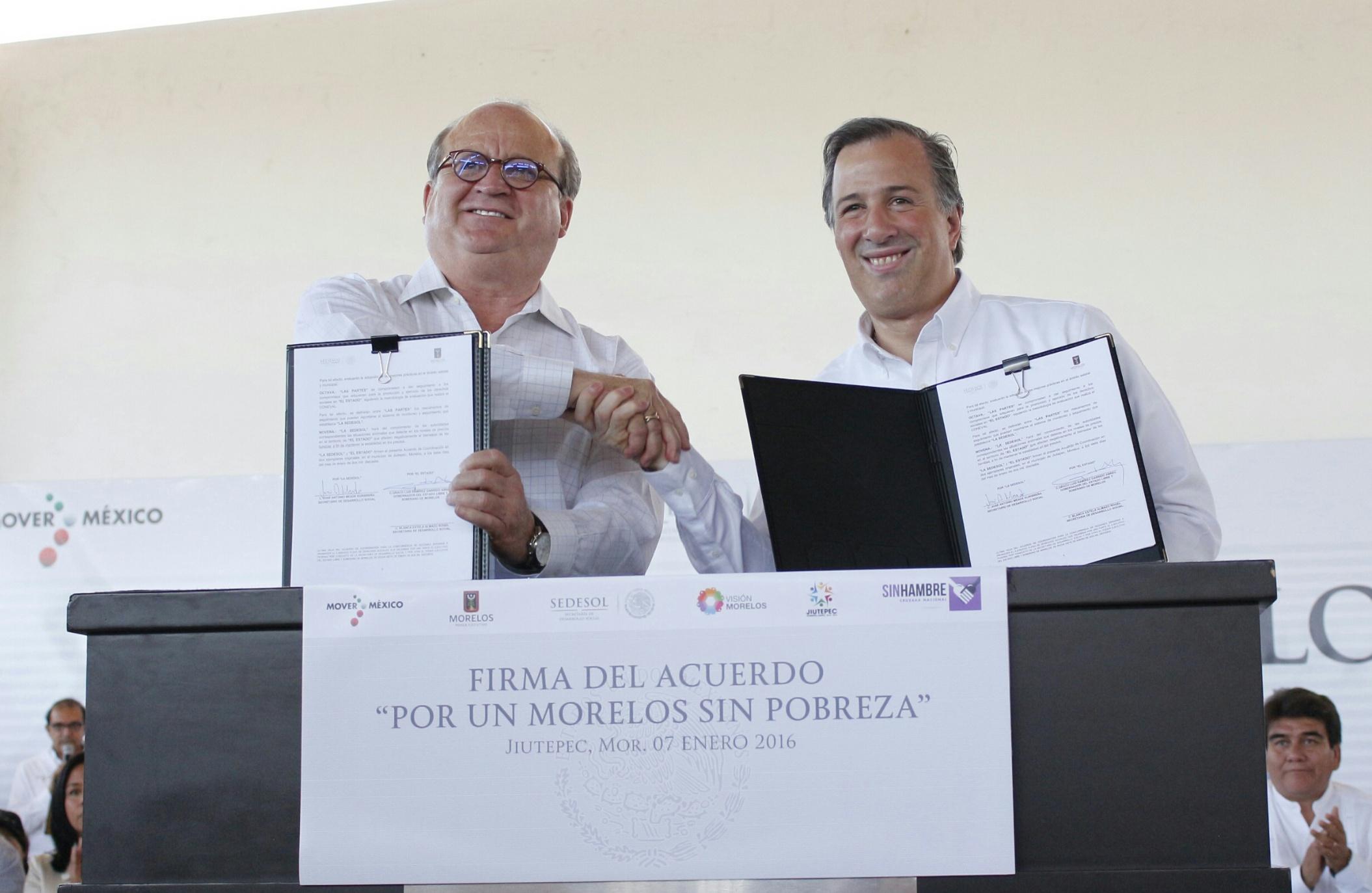 El secretario Meade en el marco de su gira de trabajo por el estado de Morelos