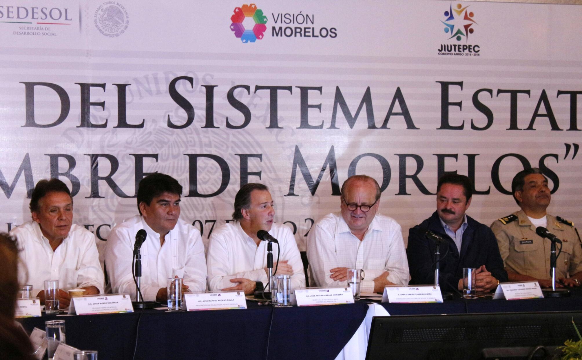 Secretario Meade en el marco de su gira de trabajo por el estado de Morelos