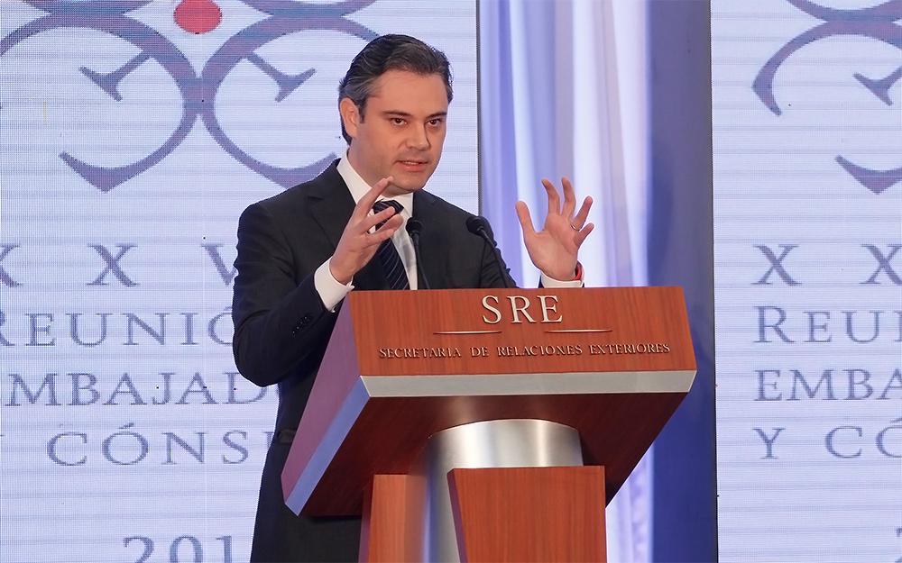 Sesión de preguntas y respuestas durante la XXVII Reunión de Embajadores y Cónsules 2016