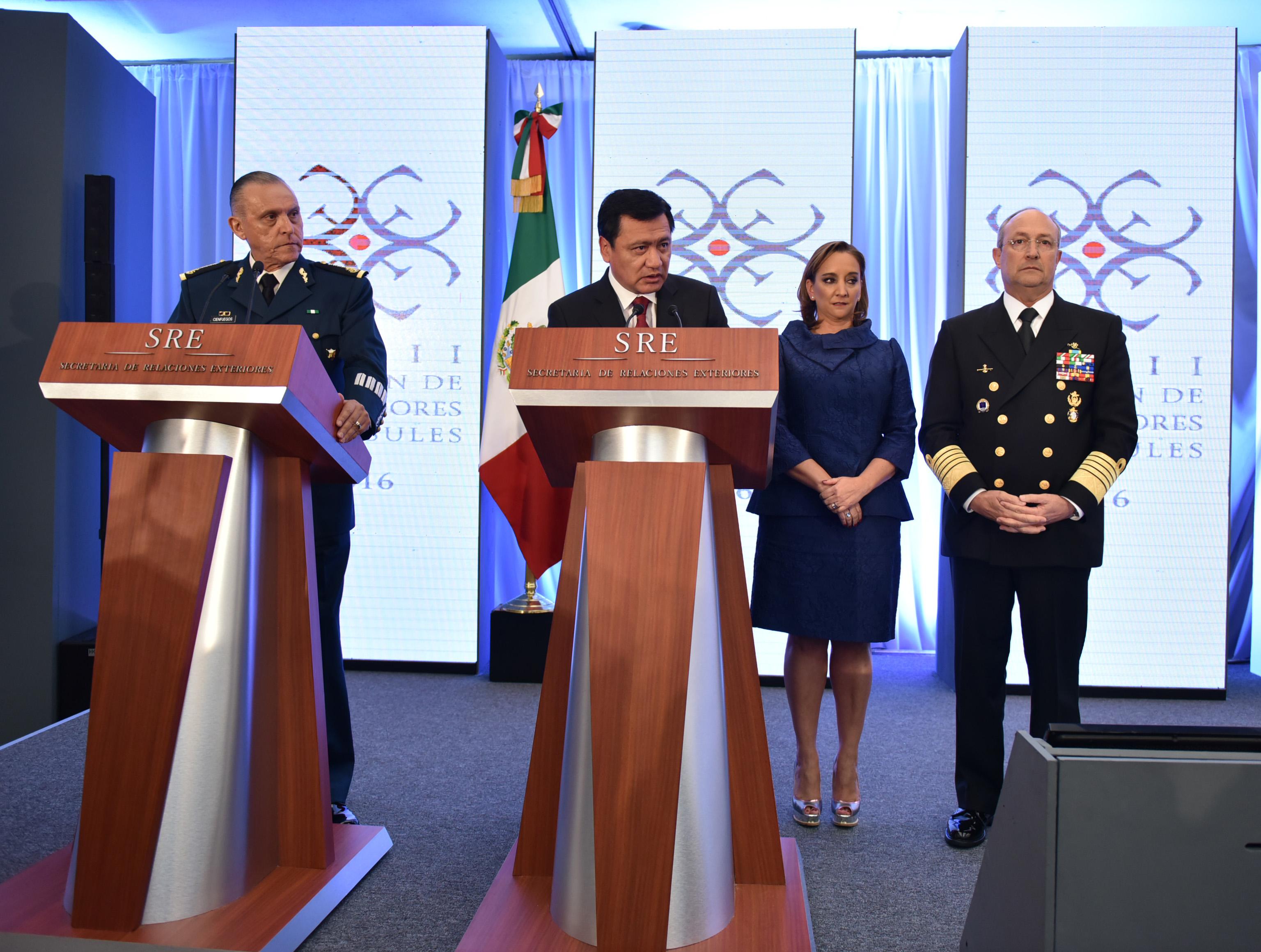 El Secretario de Gobernación, Miguel Ángel Osorio, anuncia la detención de Joaquín Guzmán Loera