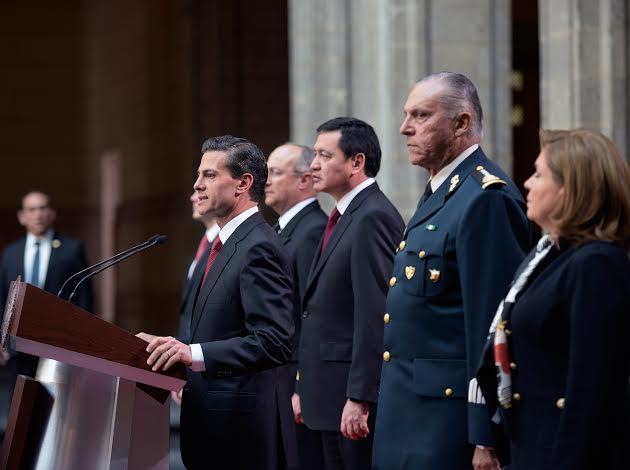 """""""Este logro es resultado de la coordinación  de las Fuerzas Armadas, del Ejército Mexicano y la Armada de México, de la Policía Federal, de la Procuraduría General de la República y del Centro de Investigación y Seguridad Nacional"""": EPN"""