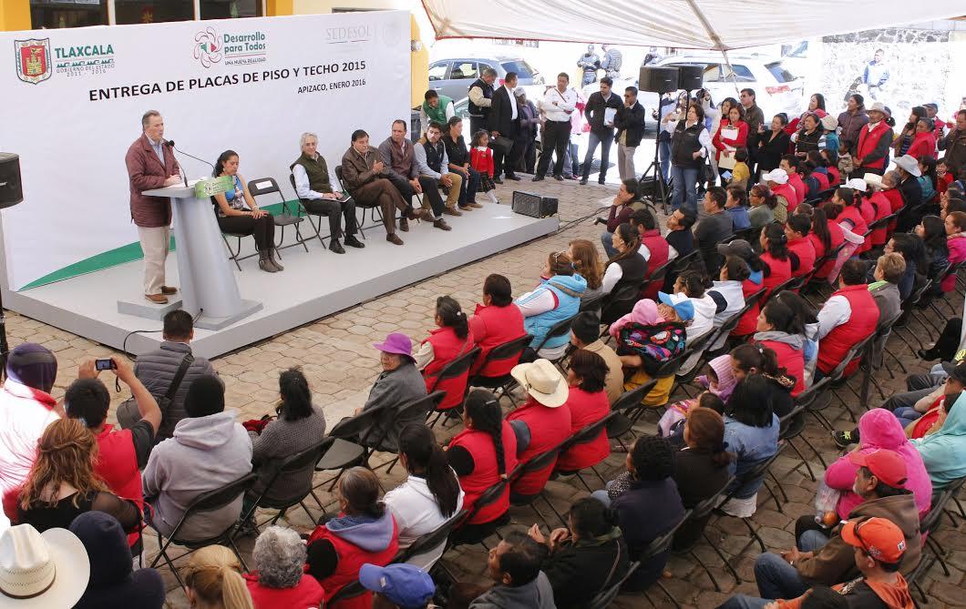 Secretario Meade en el marco de su gira de trabajo en el estado de Tlaxcala