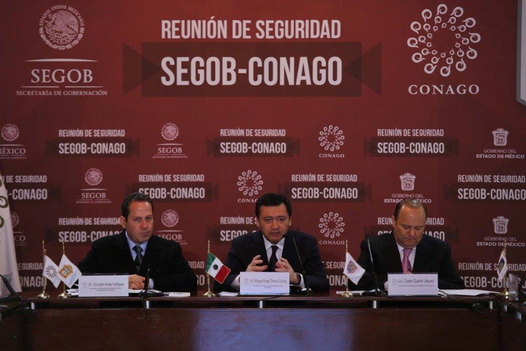 El Secretario de Gobernación, Miguel Ángel Osorio Chong, durante la reunión de Seguridad SEGOB-CONAGO realizado en en Toluca, Estado de México.