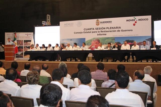 La Secretaria de Desarrollo Social, Rosario Robles Berlanga, participó en la IV Sesión Plenaria del Consejo Estatal para la Restauración de Guerrero.