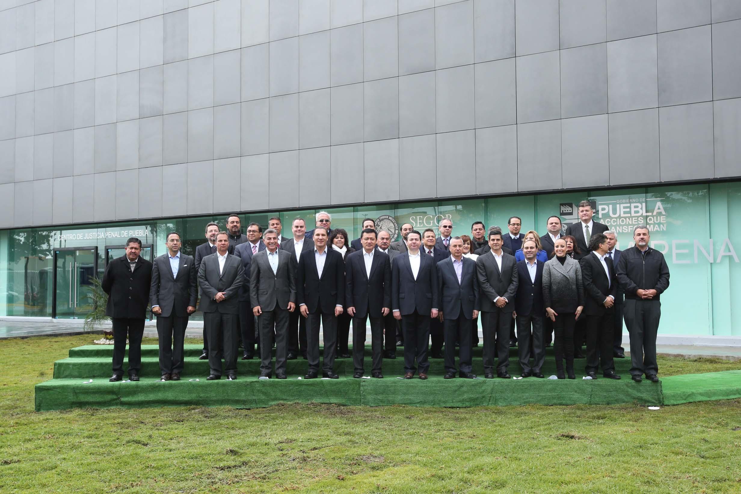 El Secretario de Gobernación, Miguel Ángel Osorio Chong, durante la inauguración del Centro de Justicia Penal de Puebla