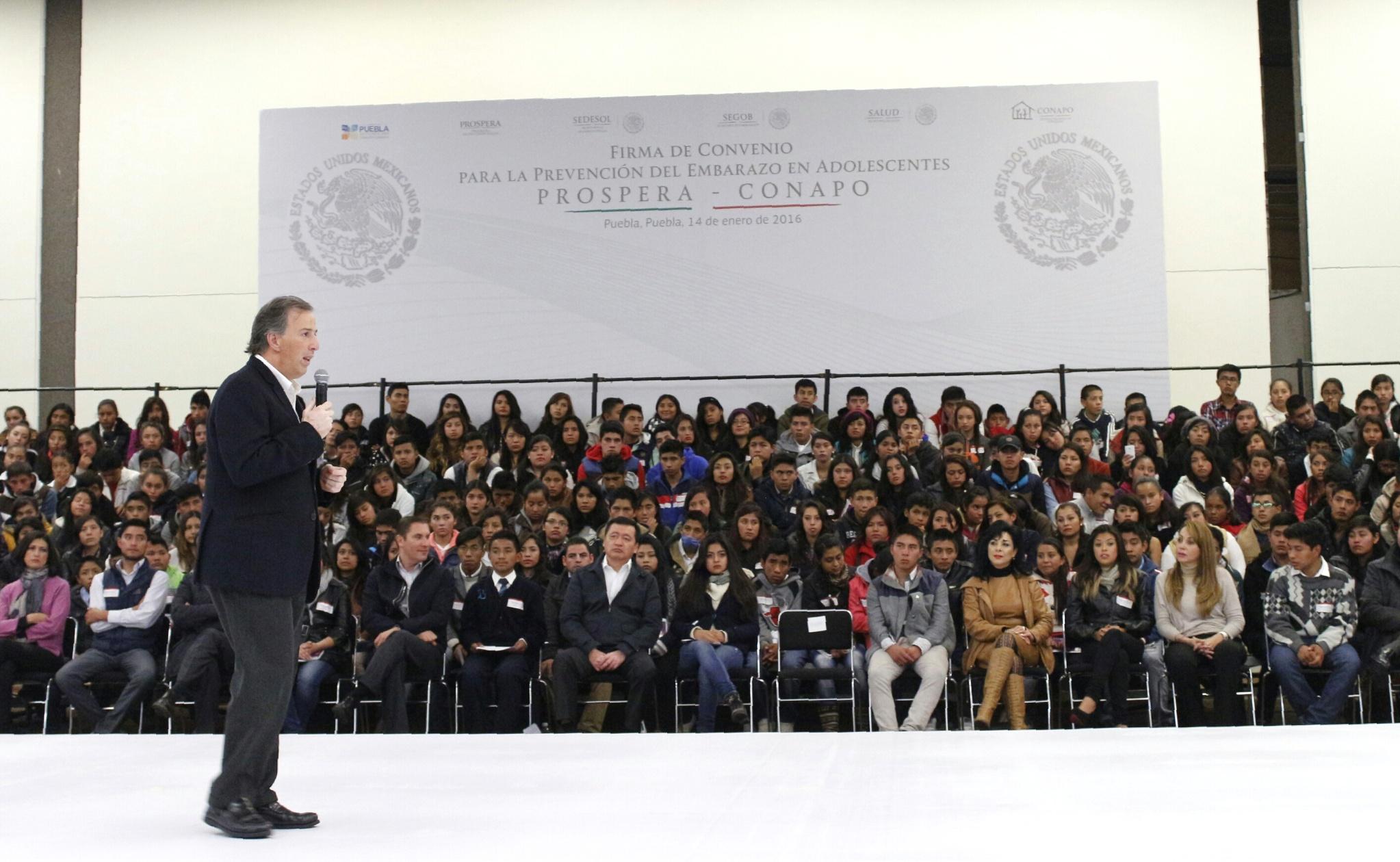 Mensaje del secretario José Antonio Meade en la firma del Convenio de Colaboración para la Prevención del Embarazo en Adolescentes Prospera-CONAPO
