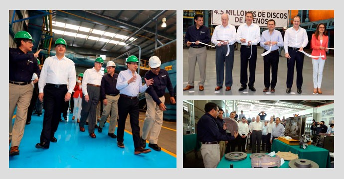 Opening of the extension of the plant of suspensions and disc brakes in San Martín Texmelucan, Puebla