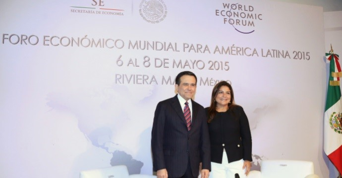 At a press conference, Marisol Argueta de Barillas, Director of Latin America of the World Economic Forum, and the Secretary of Economy, Ildefonso Guajardo Villarreal, announced the realization of the tenth edition of the WEF LATAM