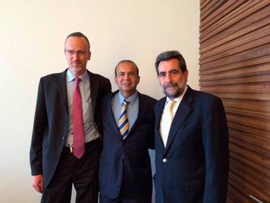 El Secretario del Trabajo y Previsión Social, Alfonso Navarrete Prida, se reunió hoy con Enrique Deibe, Director del Centro Interamericano para el Desarrollo del Conocimiento en la Formación Profesional (CINTERFOR) de la OIT.