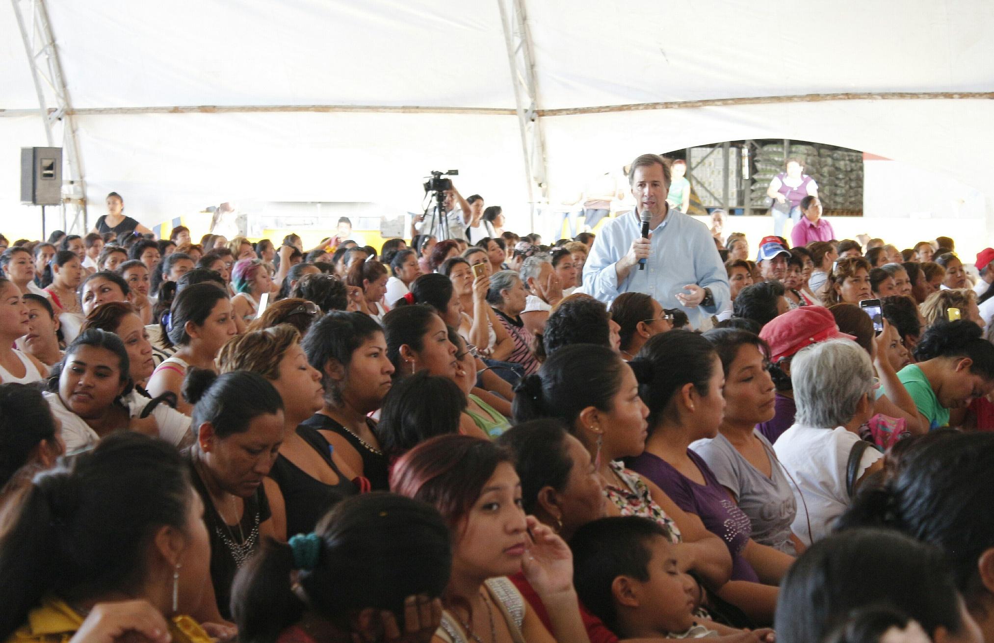 El secretario de Desarrollo Social, José Antonio Meade Kuribreña, en el marco de la inauguración del Almacén Rural de Lerma