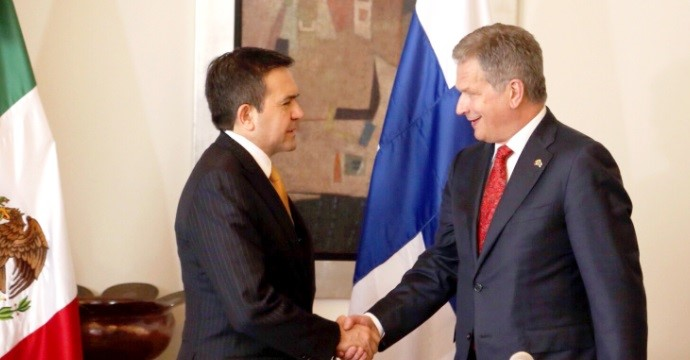 Working meeting of the Secretary of Economy with the President of Finland