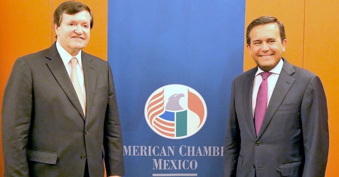 Ildefonso Guajardo Villarreal, Secretary of Economy, met with members of the American Chamber Mexico