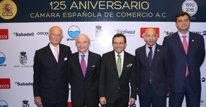 Ildefonso Guajardo attends the 125th anniversary of the Spanish Chamber of Commerce