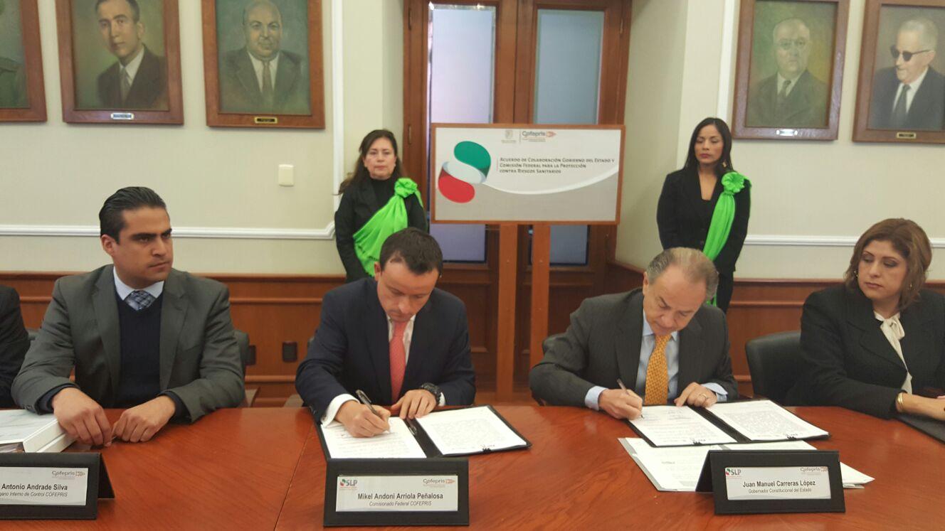 San Luis Potosí, décimo estado que se suma al plan de la Secretaría de la Función Pública para mejorar la transparencia en las verificaciones sanitarias.