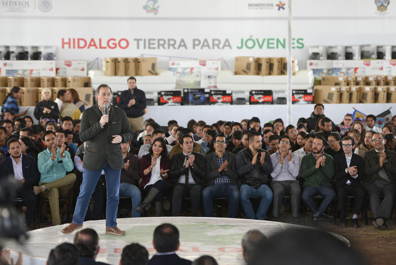 El secretario Meade en el marco de la firma del Convenio de Adhesión a la Estrategia Jóvenes por un México Alfabetizado
