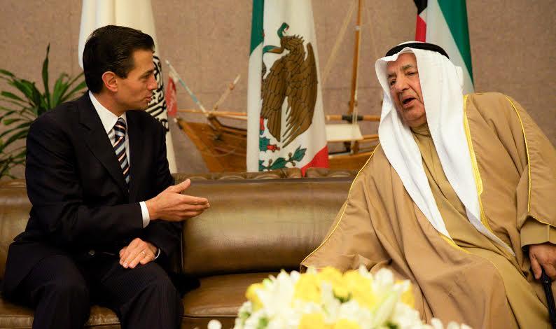 """""""Es un honor para la Cámara de Comercio del Estado de Kuwait en recibir un honorable visitante, que es un invitado de su Alteza Jeque Sabáh Al-Kháled Al-Hámad Al-Sabah, el Presidente de los Estados Unidos Mexicanos, Enrique Peña Nieto""""."""