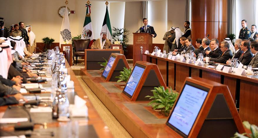 The Mexican president proposed setting up a monitoring group to enable Kuwaiti businessmen to find out about Mexico and its investment opportunities, and for Mexican businessmen to have a presence in Kuwait.