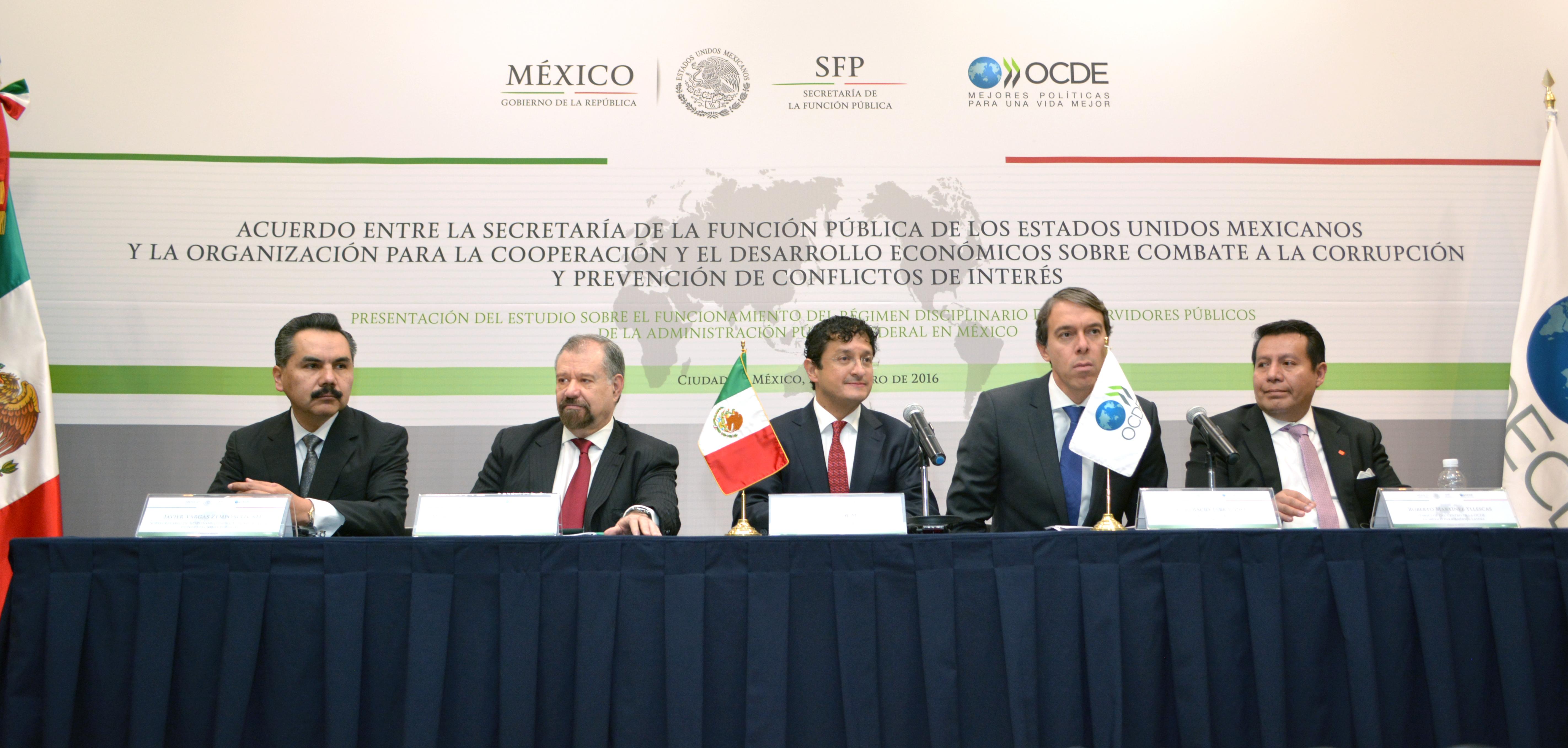 El Secretario Virgilio Andrade presente en la Conferencia Internacional en materia de Ética y prevención