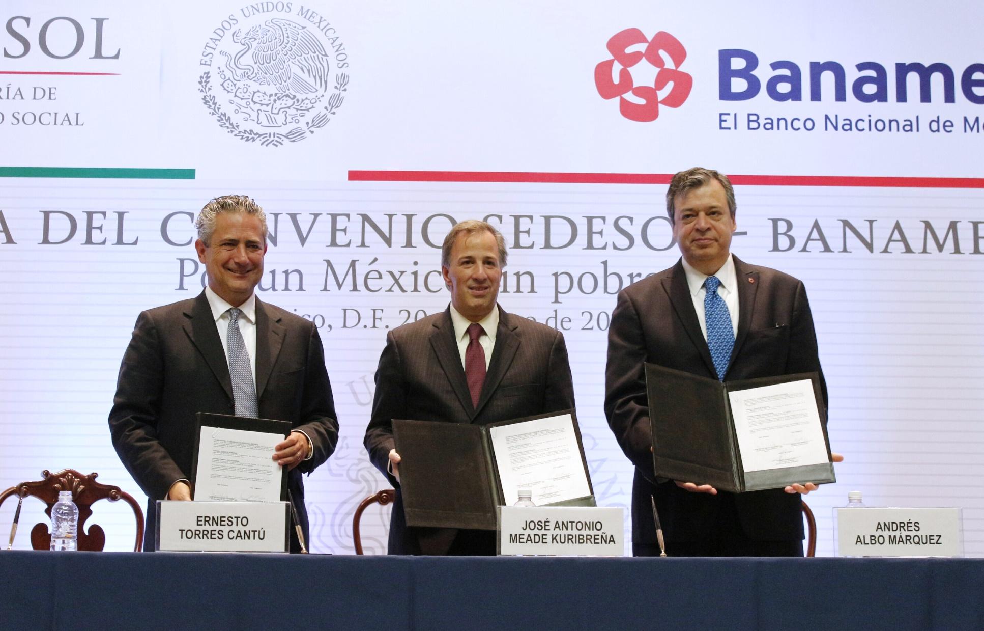 Firman Sedesol y Banamex convenio de colaboración para impulsar el desarrollo social de México