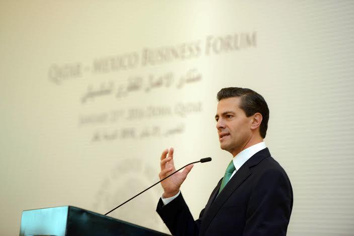 México está afianzándose en sus fortalezas logrando la debida instrumentación de los cambios estructurales, abriéndose al mundo y deseando que inversionistas vayan a nuestro país, afirmó el Mandatario mexicano.