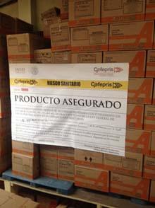 La Secretaría de Salud, a través de la Comisión Federal para la Protección contra Riesgos Sanitarios (COFEPRIS), aseguró otras 38,684 unidades de productos milagro como parte de la verificación sanitaria.
