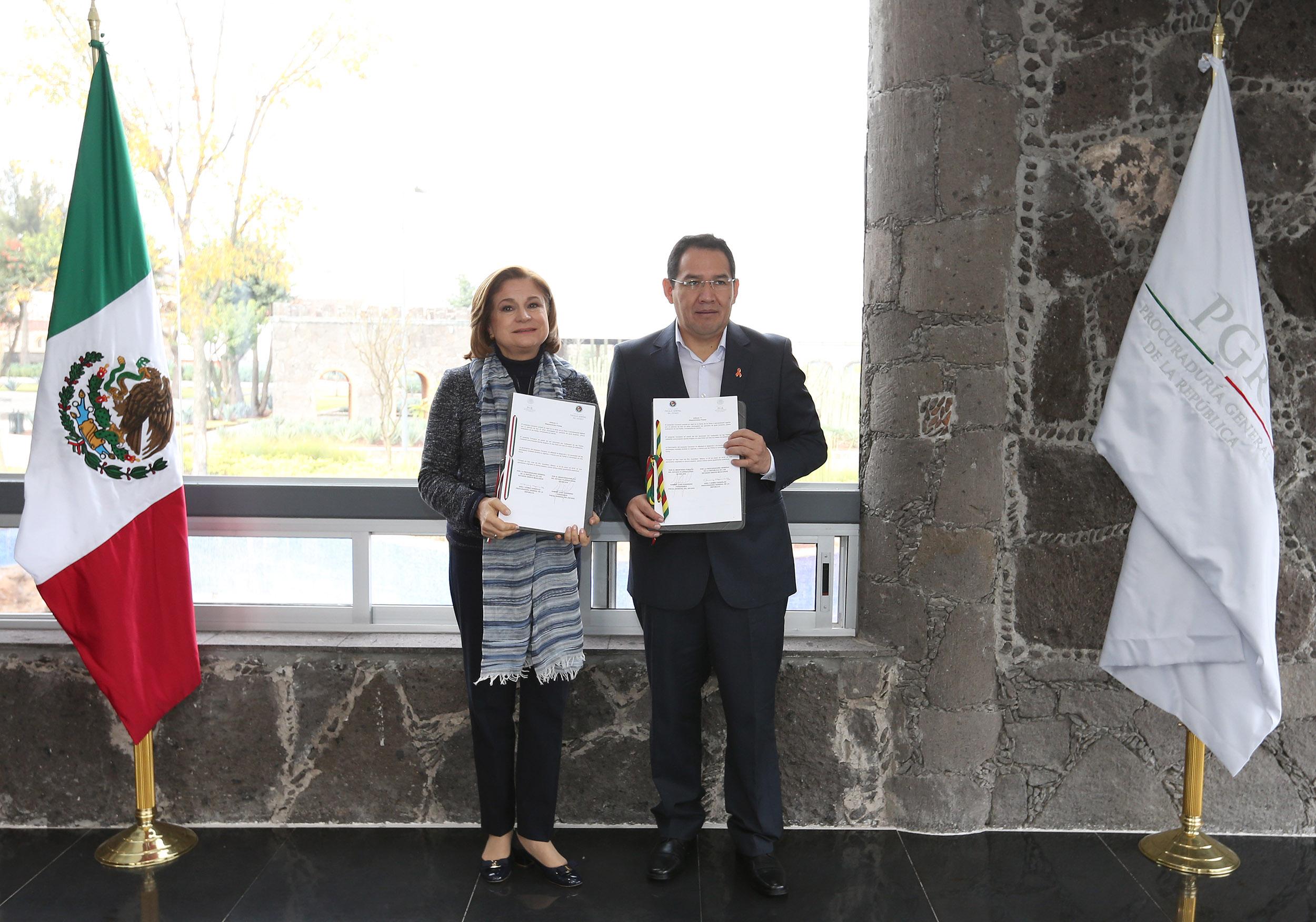 México y Bolivia firman Convenio Interinstitucional de Capacitación de Ministerios Públicos