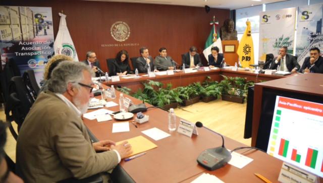 Participó el Secretario de Economía en la Sesión Plenaria de senadores del PRD para presentar el Tratado de Asociación Transpacífico