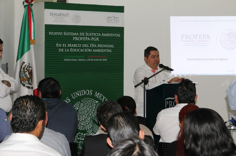 PGR Delegación Tabasco impartió conferencia sobre Nuevo Sistema de Justicia Ambienta
