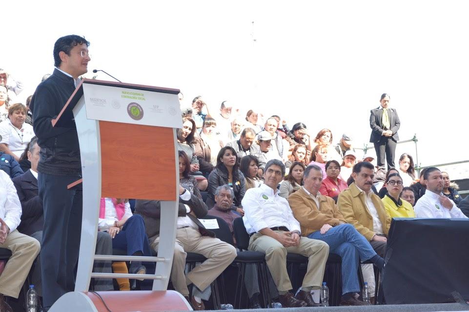 El Secretario Virgilio Andrade durante la presentación del Nuevo Esquema de Contraloría Social.