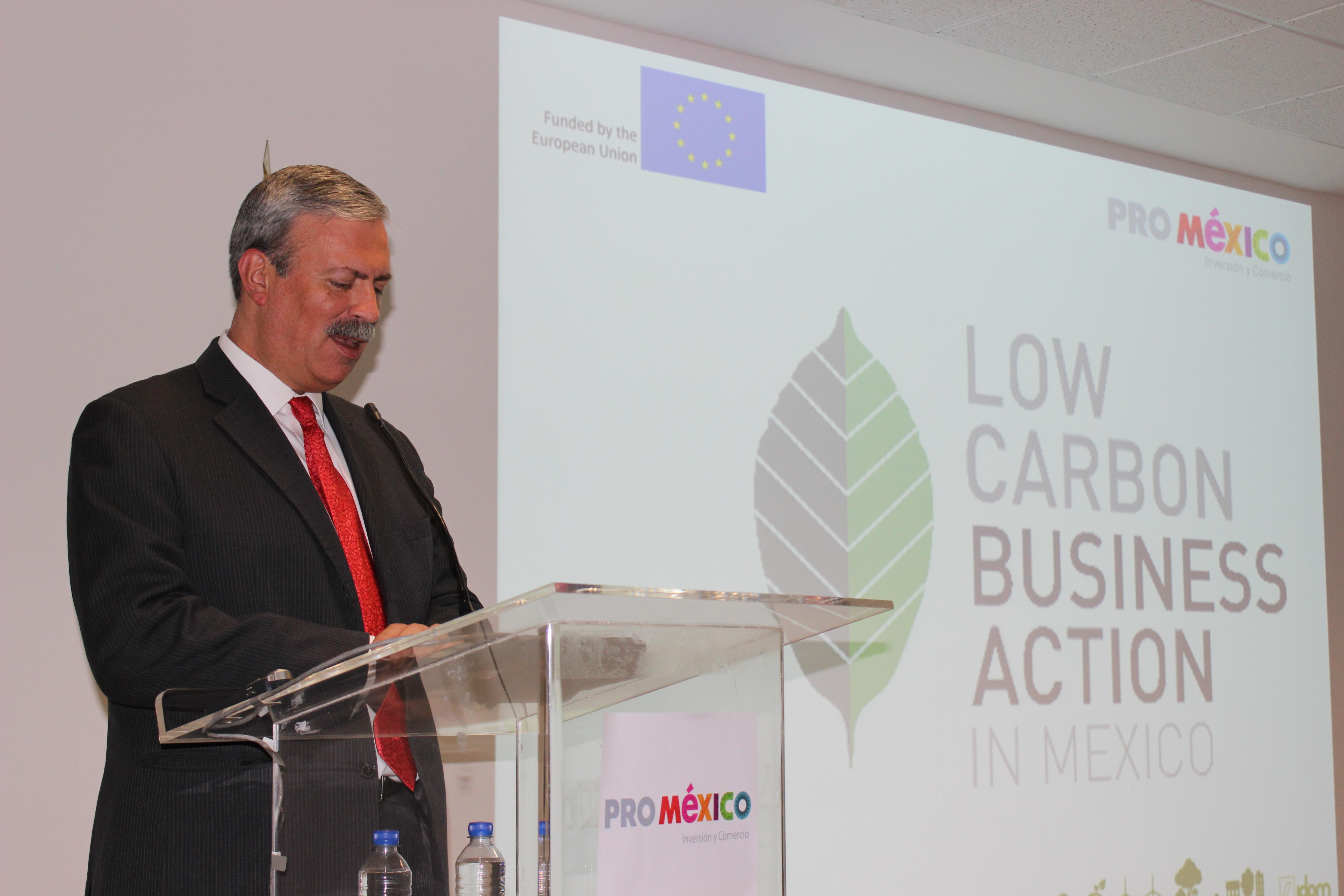 """Anuncian la Unión Europea y ProMéxico proyecto """"Low Carbon Business Action in Mexico"""
