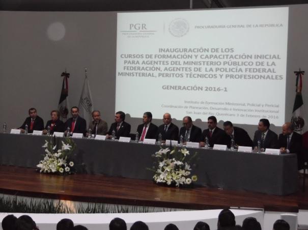 Profesionaliza PGR a Ministerios Públicos, Policías Federales y Peritos responsables de la procuración de justicia
