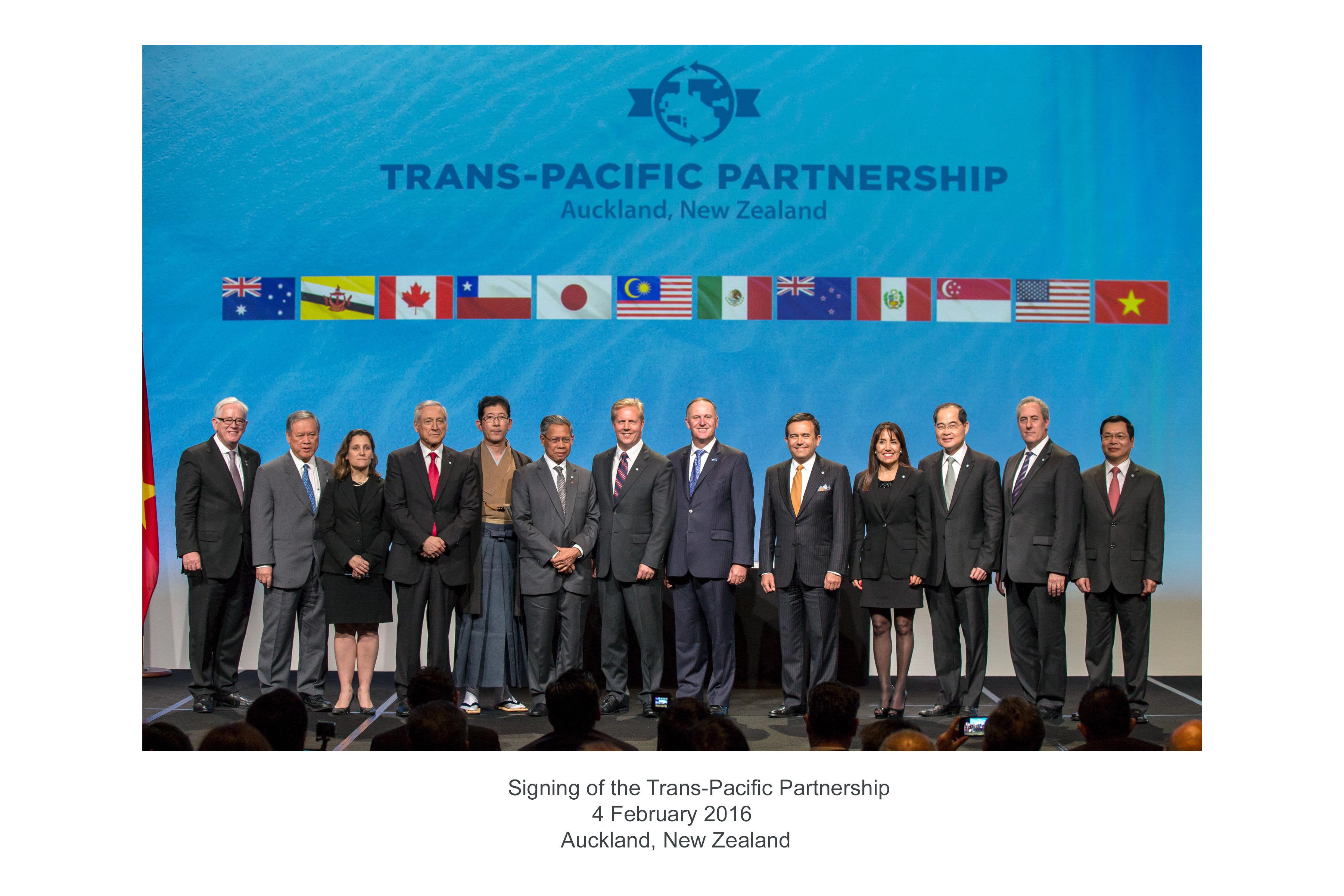 México suscribe el Tratado de Asociación Transpacífico (TPP)