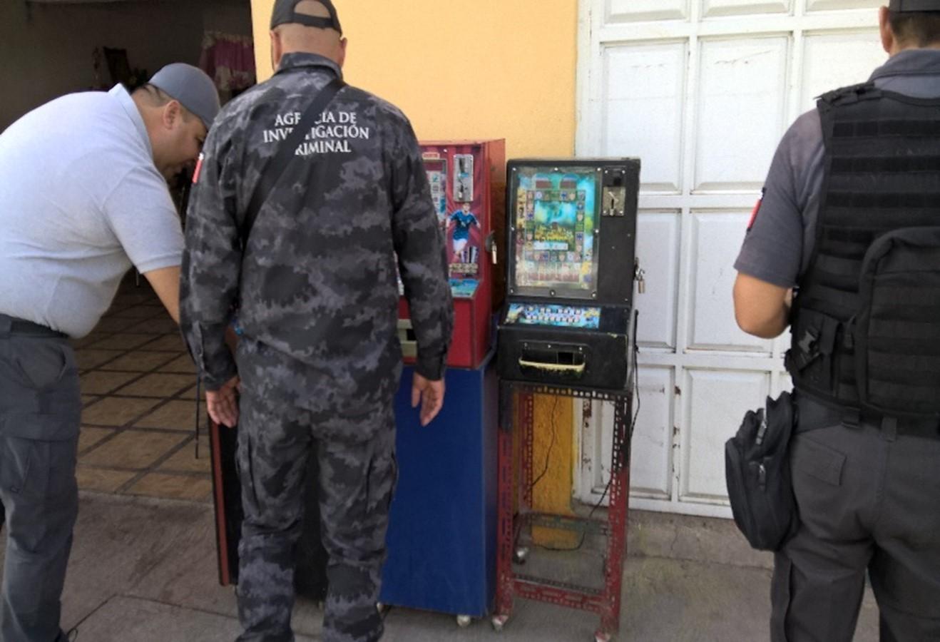 PGR asegura máquinas tragamonedas tipo casino en Guanajuato