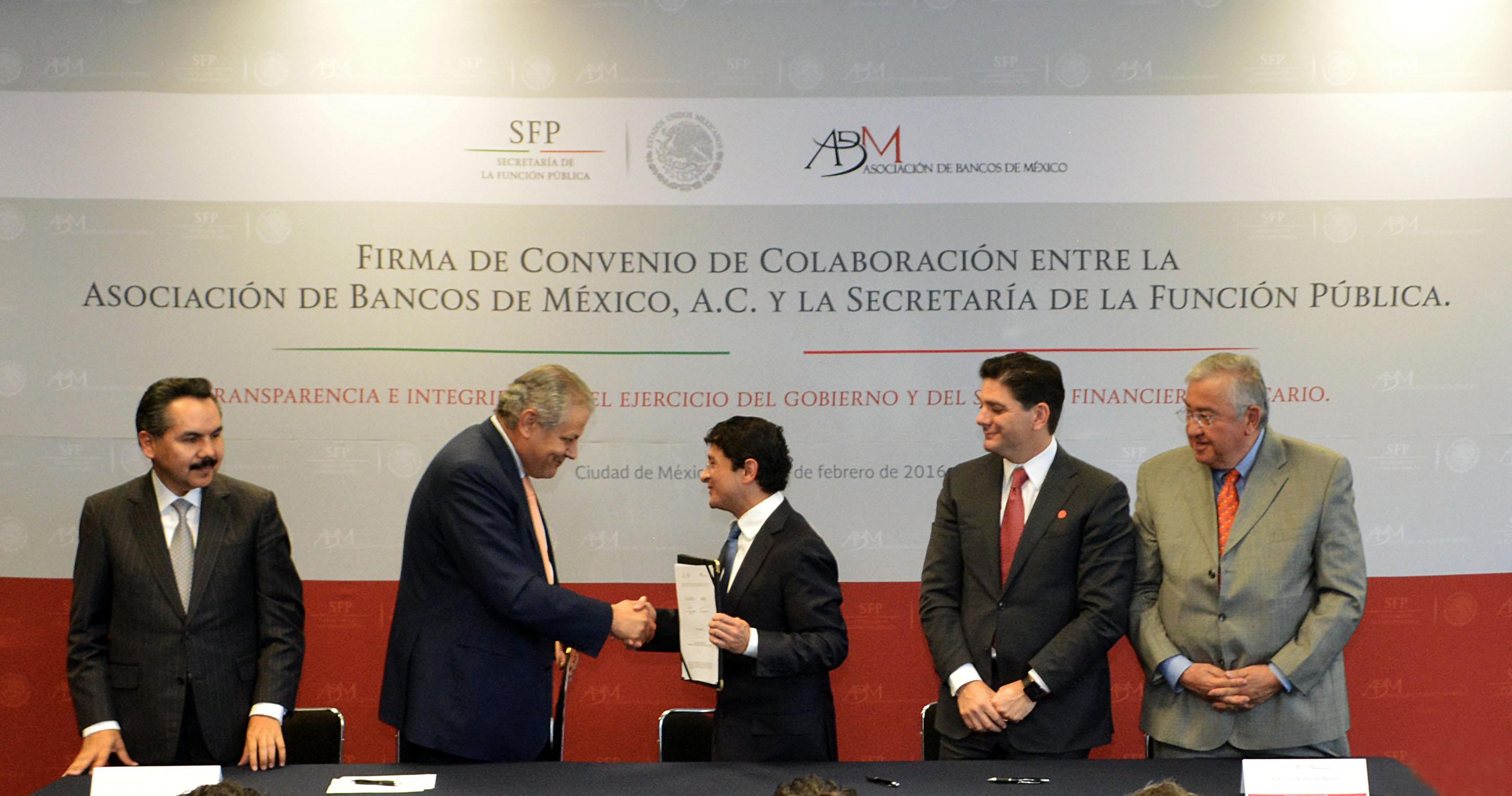Firma de Convenio entre la ABM y la SFP
