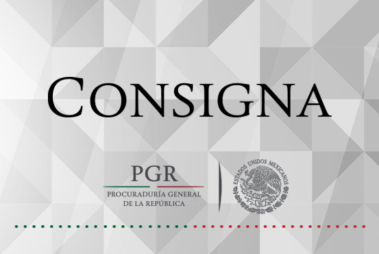 PGR consigna a dos personas por diversos delitos federales