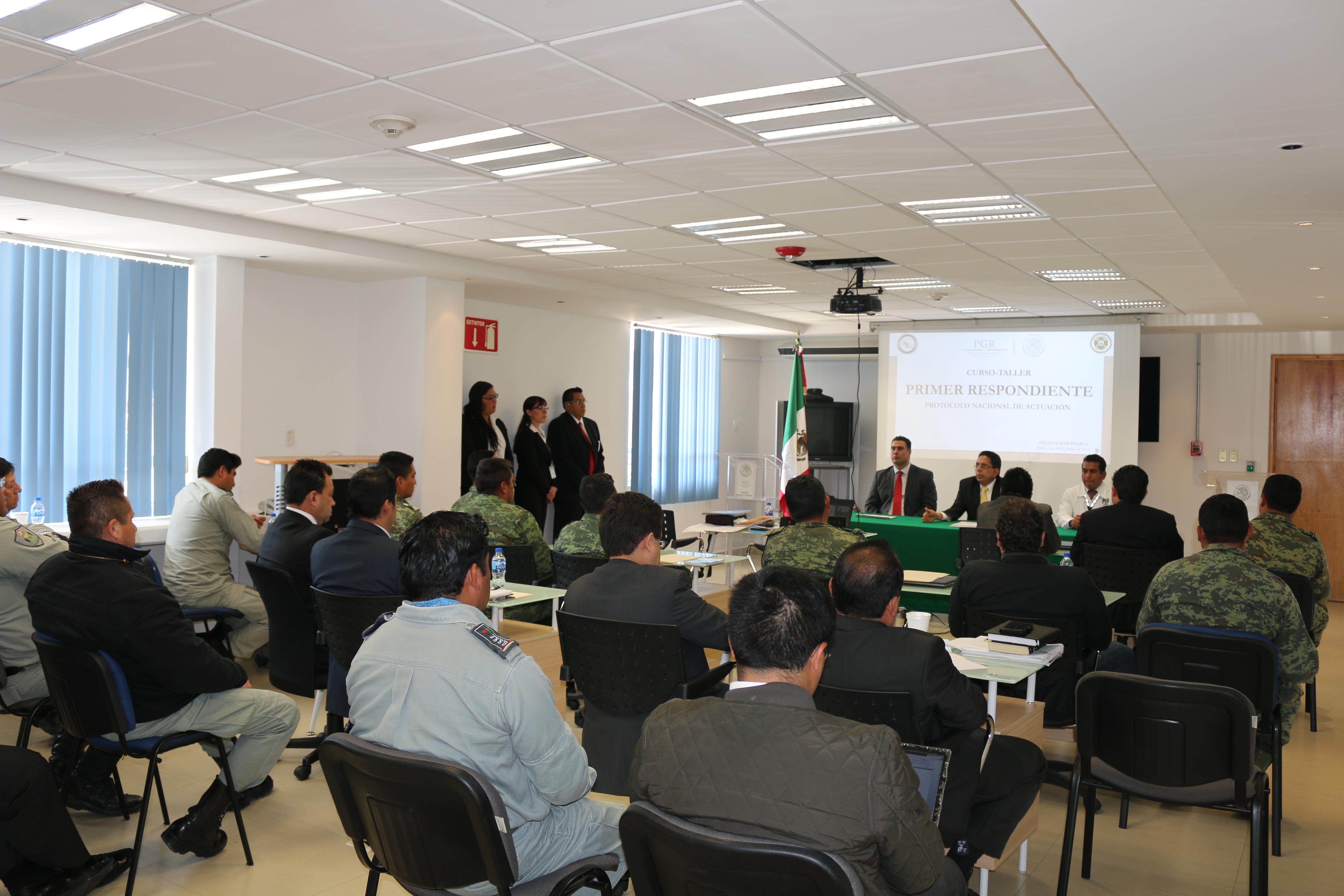"""La delegación de la PGR en Puebla, inaugura el curso-taller denominado """"Protocolo del Primer Respondiente"""""""