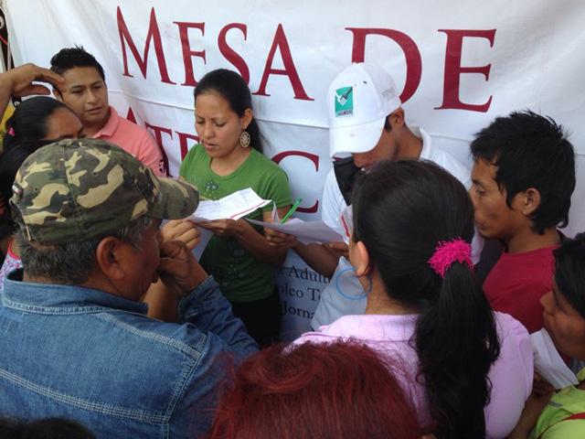 Con dispositivos satelitales y los brigadistas de Oportunidades, se agilizará la aplicación de las encuestas en 56 municipios afectados por Manuel