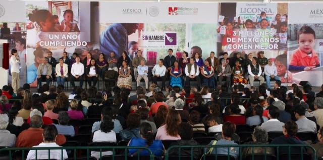 Cierre Mensual de la Cruzada Nacional contra el Hambre en Uruapan, Mich.