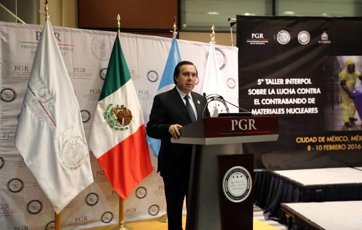 Con el auspicio de PGR inaugura Interpol taller contra contrabando de materiales nucleares.