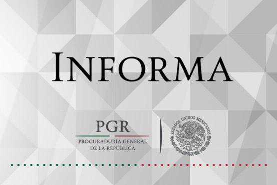 En el ámbito de su competencia PGR informa.