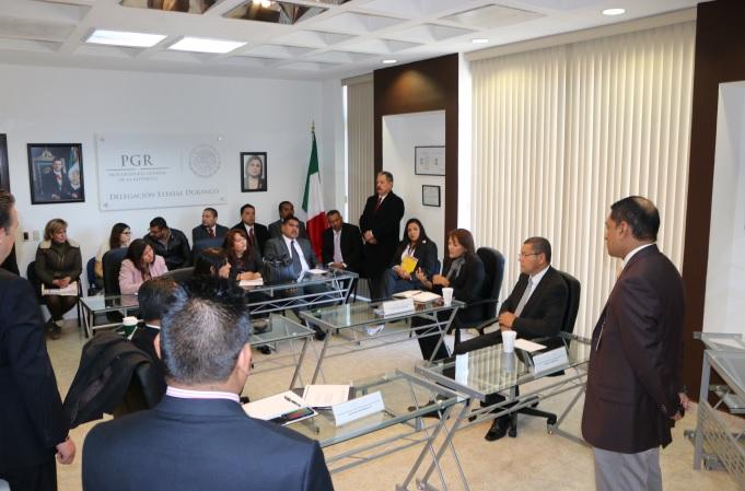 La PGR en Durango establece avances y seguimientos en la implementación del NSJPA.