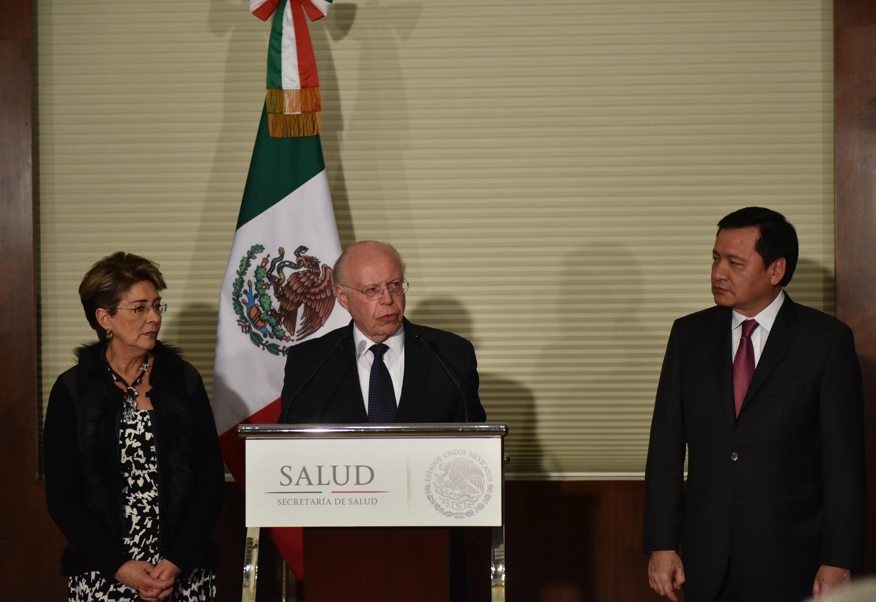 José Narro Robles, durante la toma de posesión como Secretario de Salud.