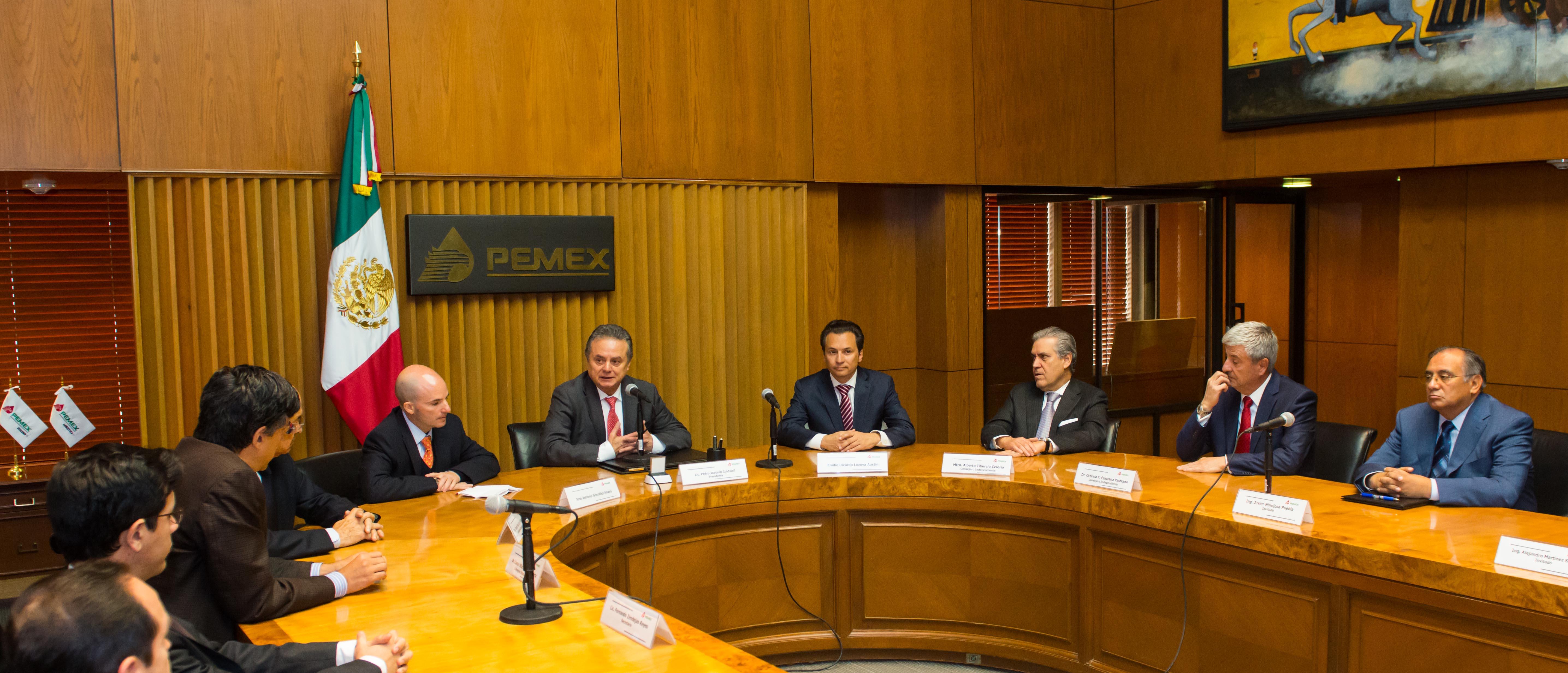 El Secretario de Energía presenta ante el Consejo de Administración de PEMEX al nuevo Director General, José Antonio González Anaya