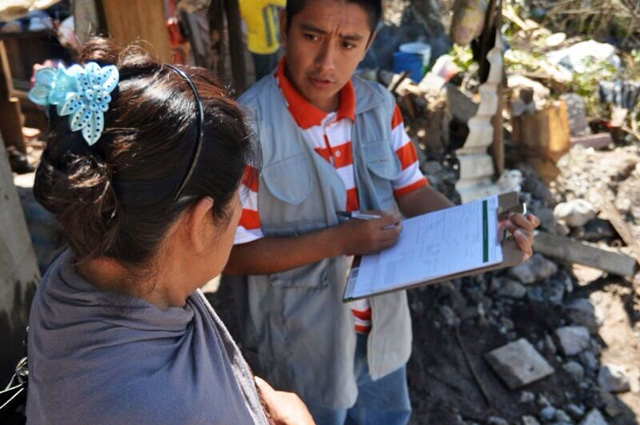 Se evalúa la magnitud de los daños y el tipo de apoyo que se brindará a la población afectada en sus viviendas